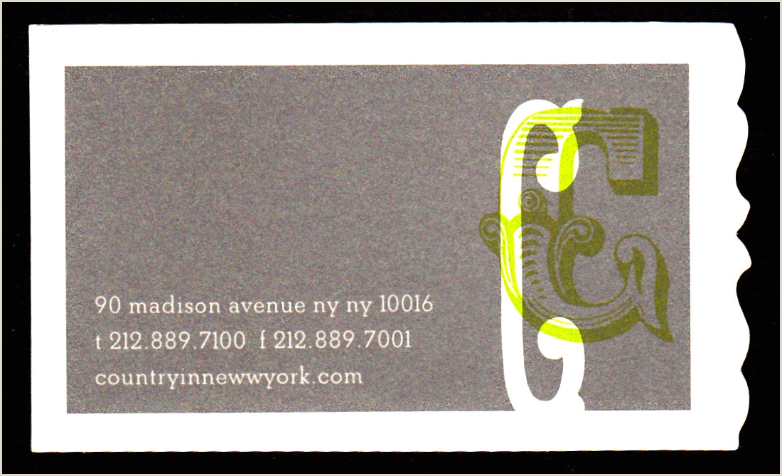 Unique Business Cards Nyc David Cobb Craig N Y C Business Cards With Out Of The