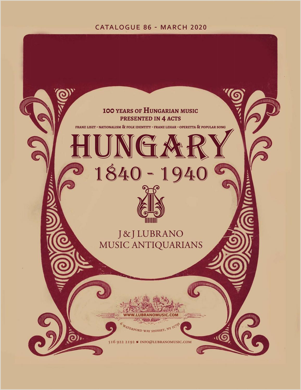 Unique Business Cards Raised Embossed Logo 100 Years Of Hungarian Music By J & J Lubrano Music