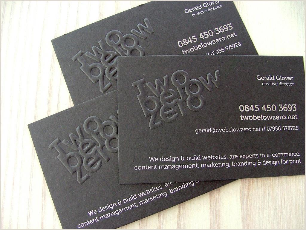 Unique Business Cards Raised Embossed Logo 26 Creative Embossed Business Cards For Inspiration