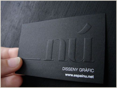 Unique Business Cards Raised Embossed Logo 62 Cool Examples Big Typography In Business Card Design