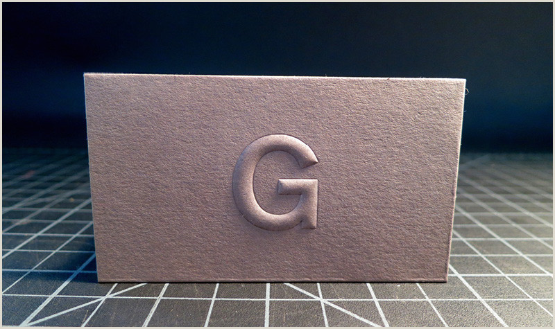 Unique Business Cards Raised Embossed Logo Embossed Logos