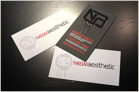 Unique Business Cards Raised Embossed Logo Newaesthetic Business Cards