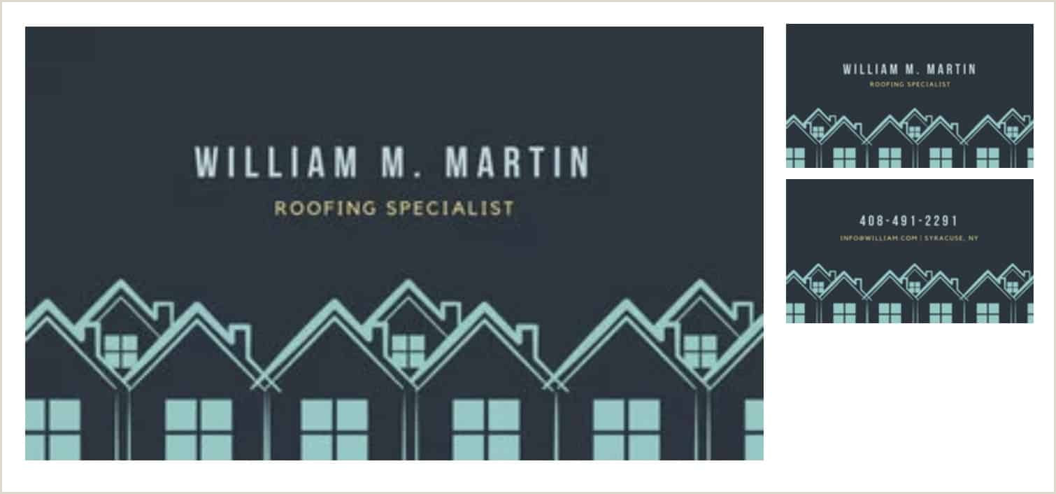 Unique Business Cards Roofing Roofing Business Cards 11 Examples To Inspire You & 3 Free