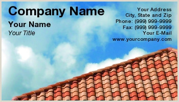 Unique Business Cards Roofing Roofing Business Cards