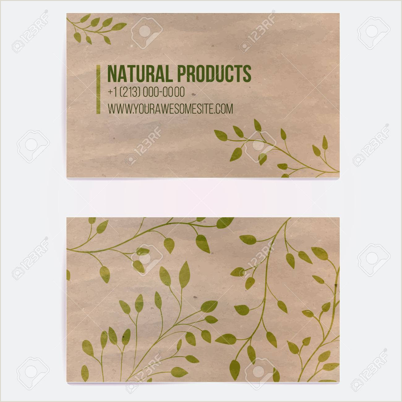 Unique Business Cards Tokens Two Sided Business Card For Natural Cosmetics Store Or Other