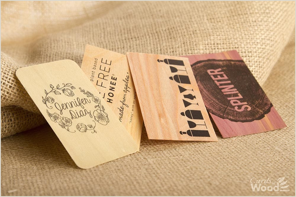 Unique Business Cards Wood Plasctic Printed Business Cards