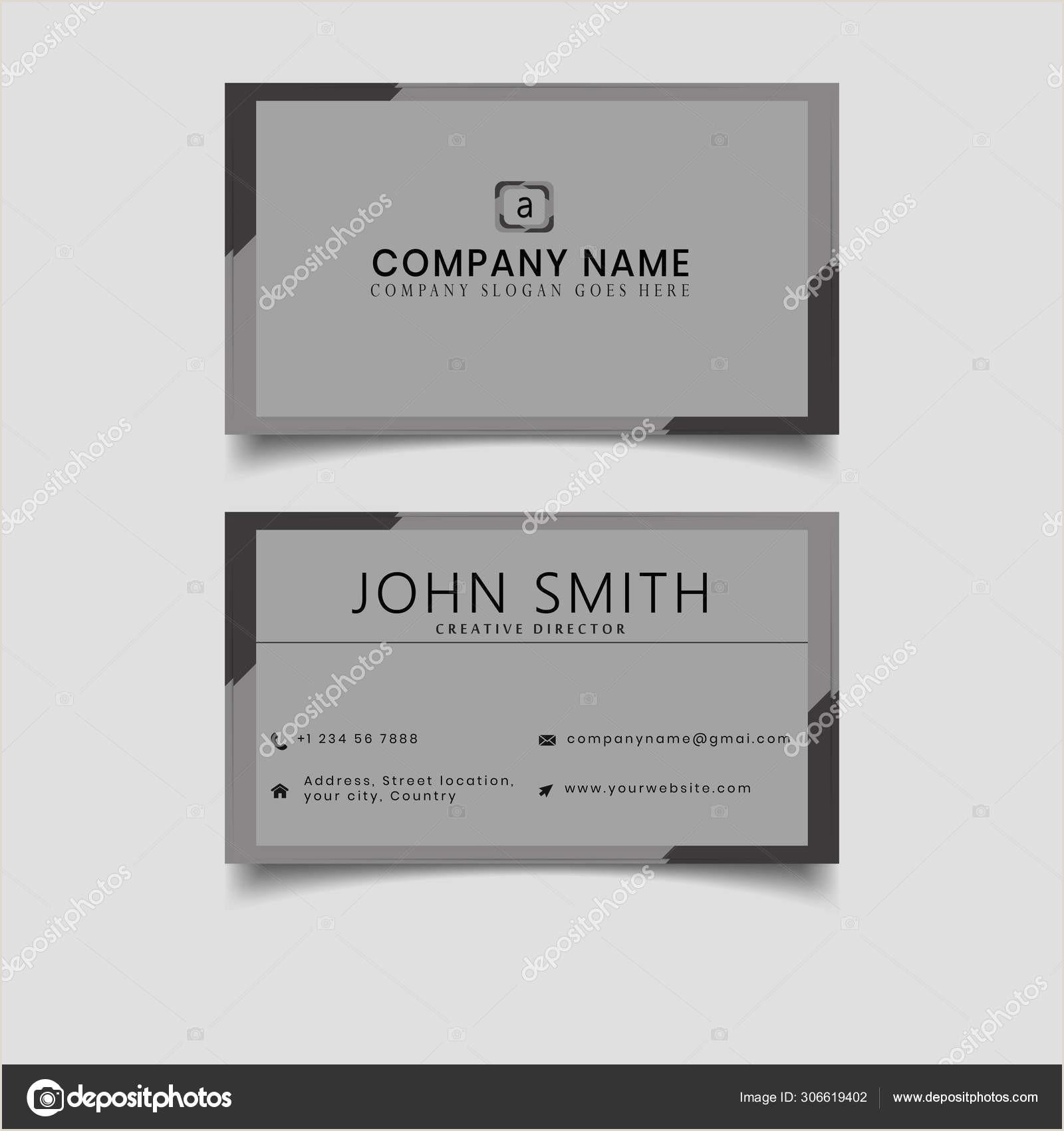 Unique Business Cards' Black Grey Business Card Modern Design Vector Layout