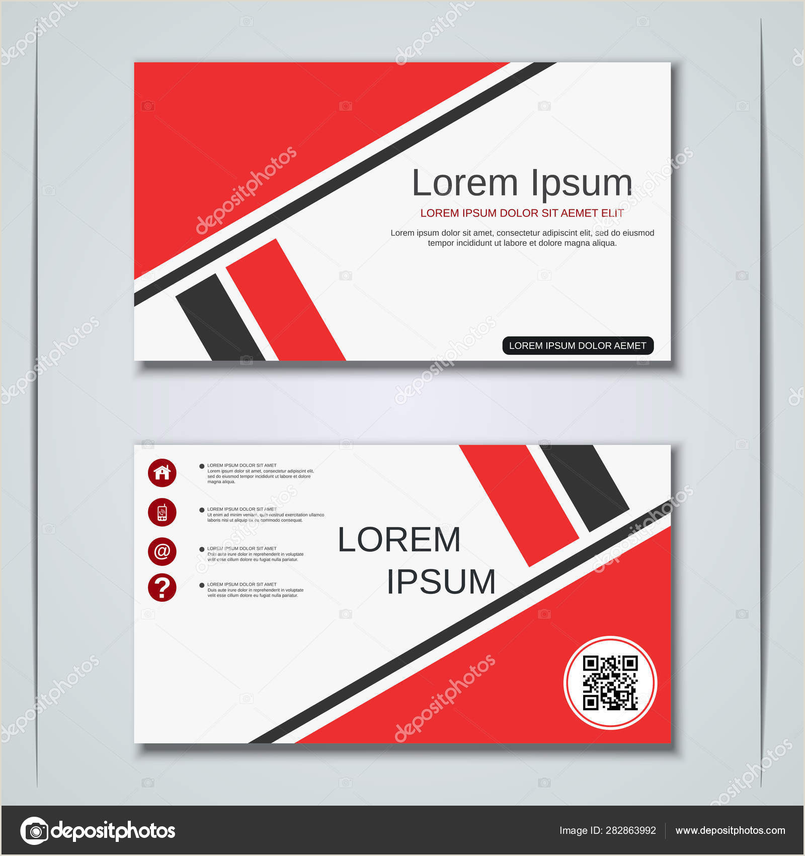 Unique Business Cards' Business Visiting Card Vector Design Template