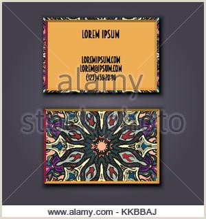Unique Business Cards' Pany Business Card Design With Unique Style Stock Vector