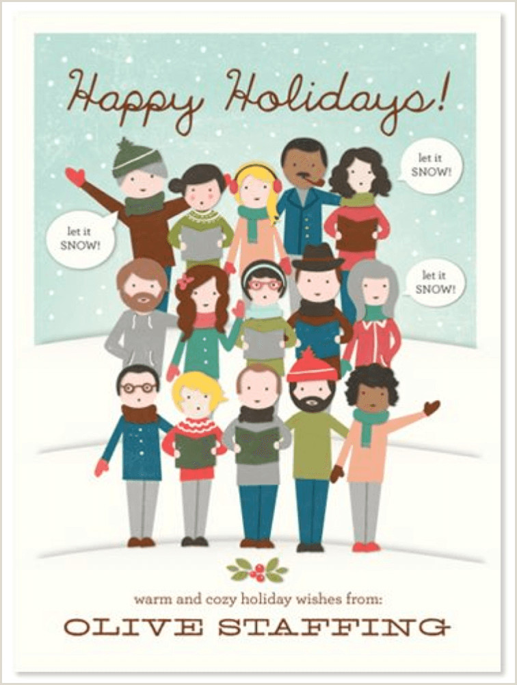 Unique Business Christmas Cards Ideas 7 Christmas Pany Card Ideas For Christmas 2018