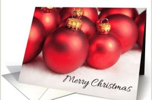 Unique Business Christmas Cards Ideas Merry Christmas Red Glass Tree ornaments Card