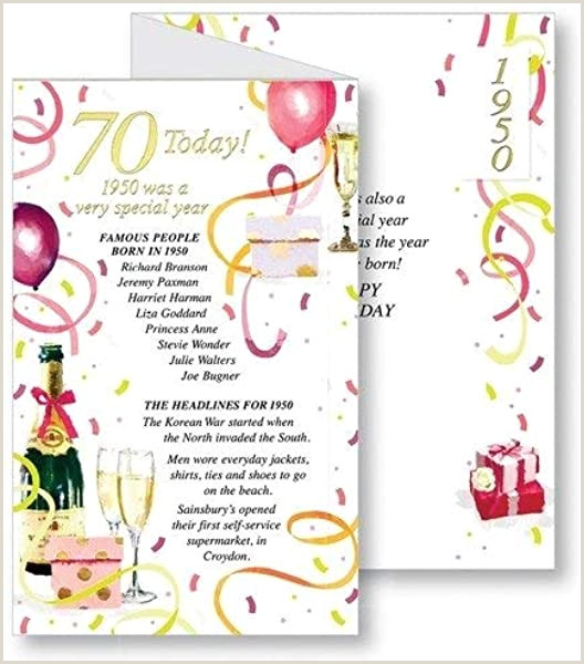 Unique Business Greeting Cards Simon Elvin 2020 70th Female Birthday Card 1950 Was A