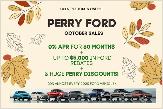 Unique Car Dealership Business Cards Perry Ford