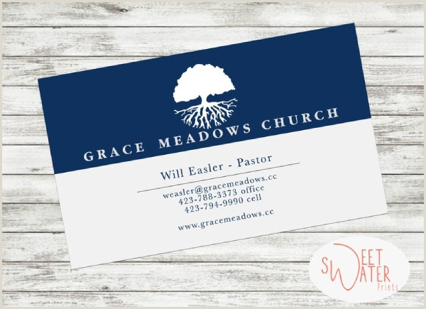 Unique Church Business Cards Free 7 Best Church Business Card Examples & Templates