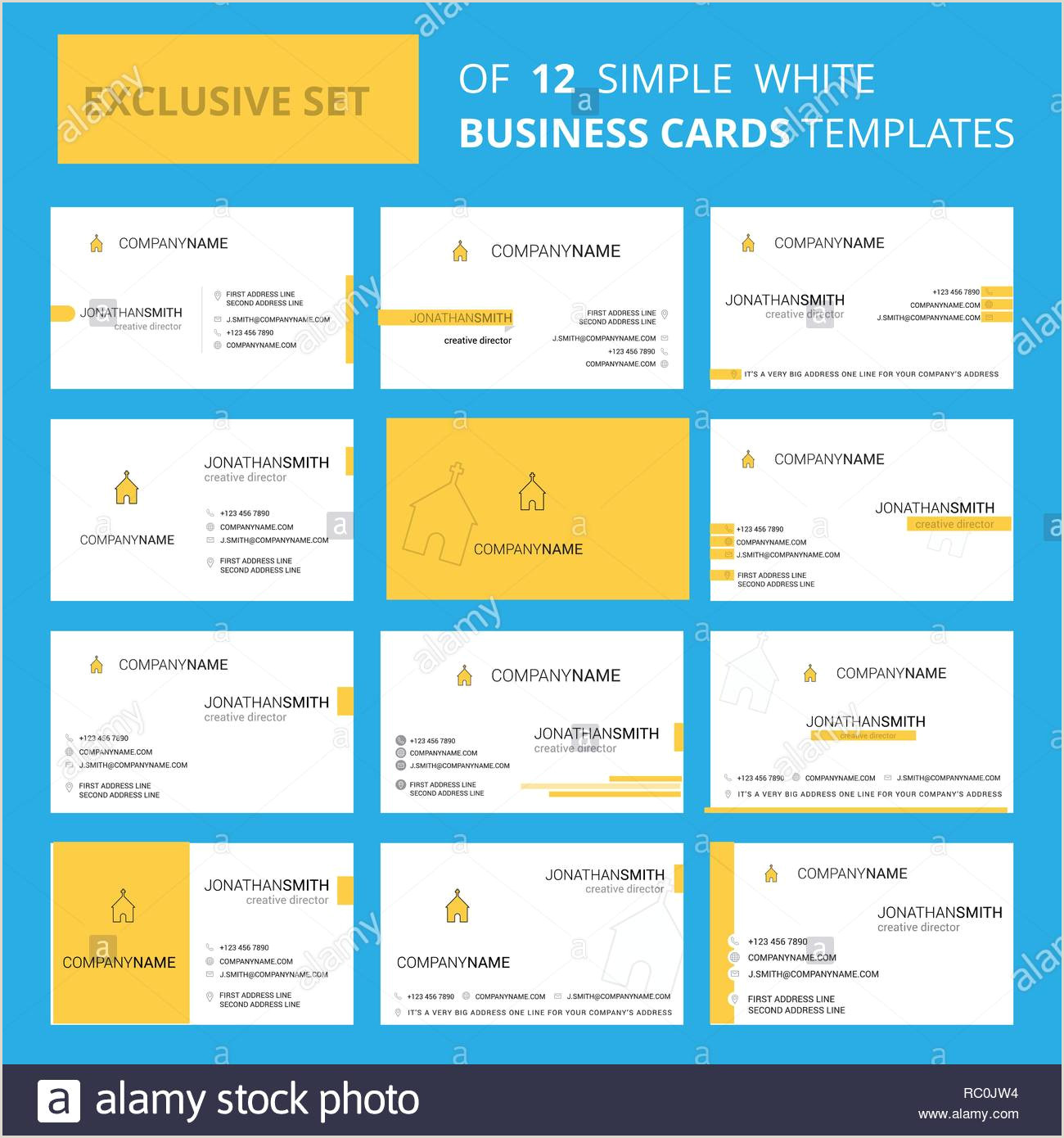 Unique Church Business Cards Set Of 12 Church Creative Busienss Card Template Editable
