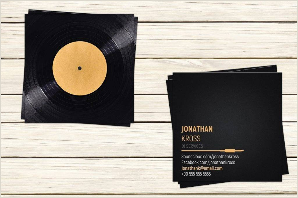 Unique Dj Business Cards 23 Dj Business Card Examples In Pages Psd Ms Word