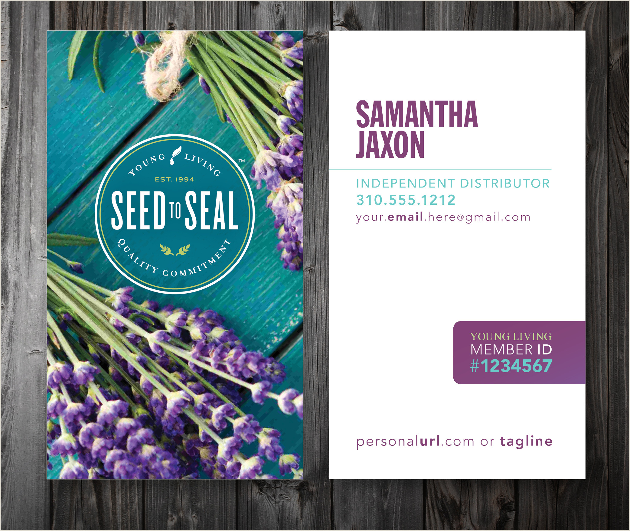 Unique Doterra Business Cards Custom Young Living Business Cards — Five Designs  Two