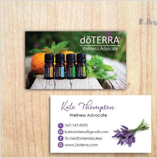 Unique Doterra Business Cards Personalized Doterra Business Cards Essential Oil Card Doterra Dt39
