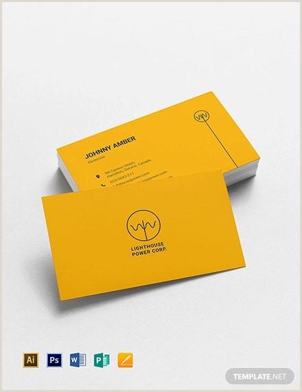 Unique Electrician Business Cards 17 Electrician Business Card Designs & Templates Psd Ai