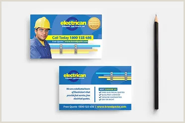 Unique Electrician Business Cards 17 Electrician Business Card Designs Free Psd Example Ideas