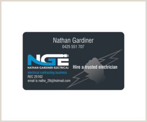 Unique Electrician Business Cards Electrical Business Cards