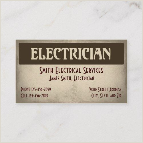 Unique Electrician Business Cards Electrical Plug Icon Electrician Business Card Vozeli