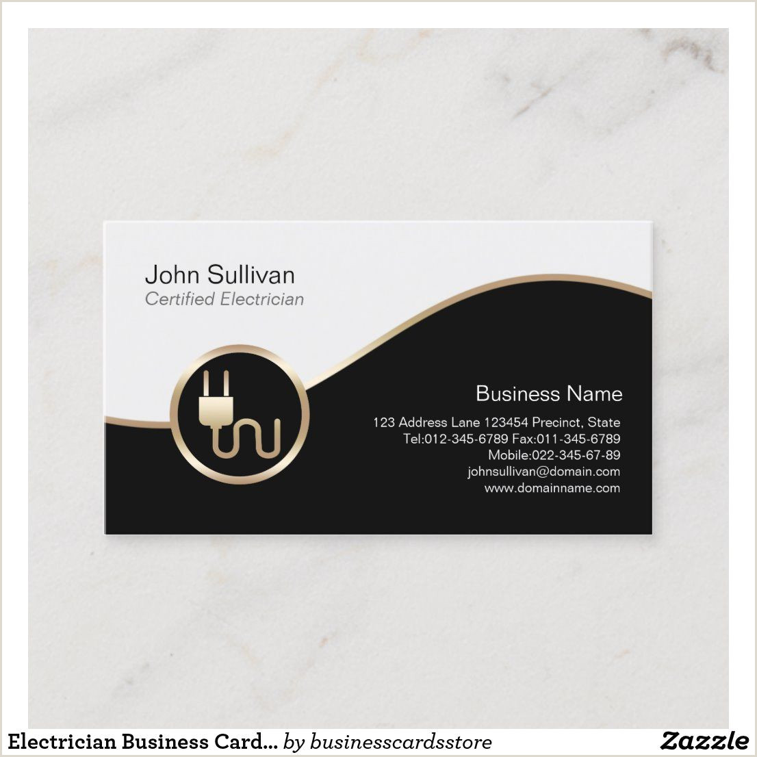 Unique Electrician Business Cards Electrician Business Card Electric Plug Icon