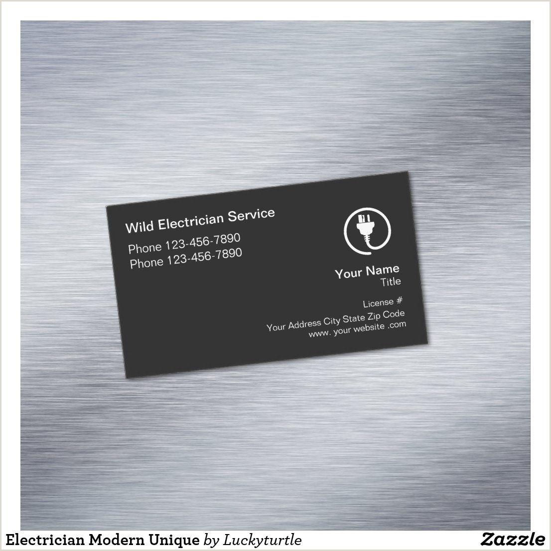 Unique Electrician Business Cards Electrician Modern Unique Business Card Magnet