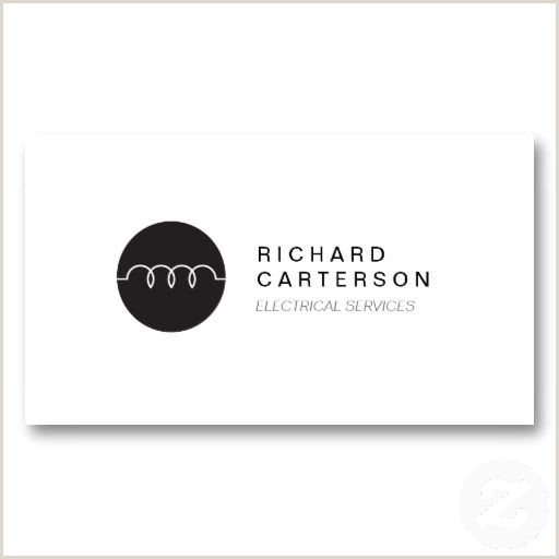 Unique Electrician Business Cards Modern Electrician Logo On White Ii Business Card