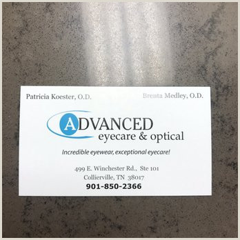 Unique Eyecare Business Cards Advanced Eyecare & Optical 23 Reviews Optometrists 499