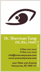 Unique Eyecare Business Cards Avenue Eyecare Misscheryltan Personal Network