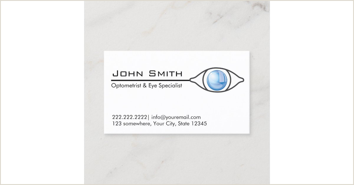 Unique Eyecare Business Cards Blue Eye Optometrist & Eye Care Business Card