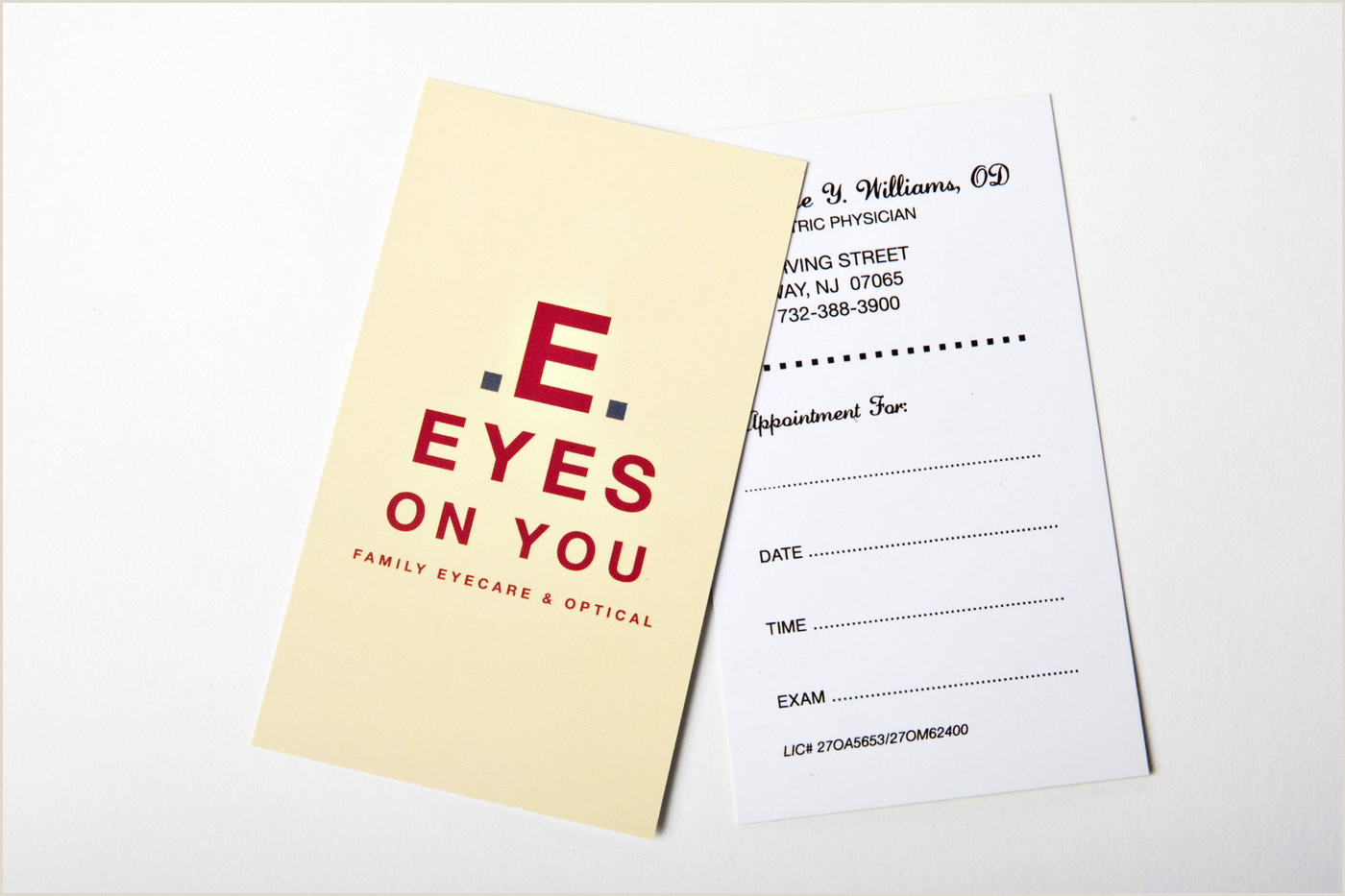 Unique Eyecare Business Cards Business Cards And Print Advertisments By M Studio Design