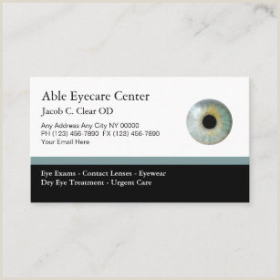 Unique Eyecare Business Cards Eye Doctor Appointment Cards