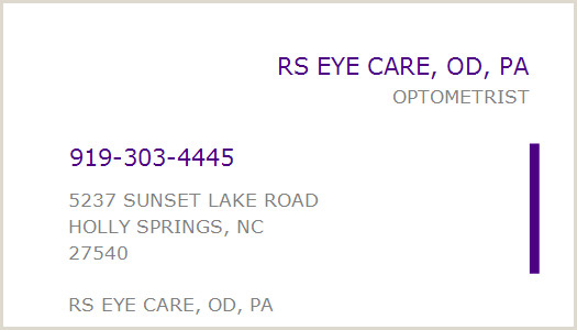 Unique Eyecare Business Cards Npi Number Rs Eye Care Od Pa