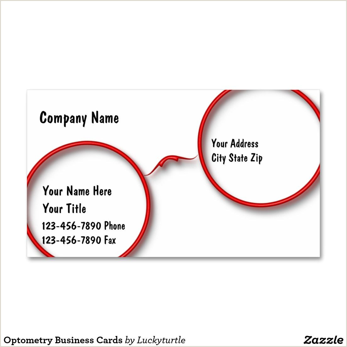 Unique Eyecare Business Cards Optometry Business Cards Zazzle
