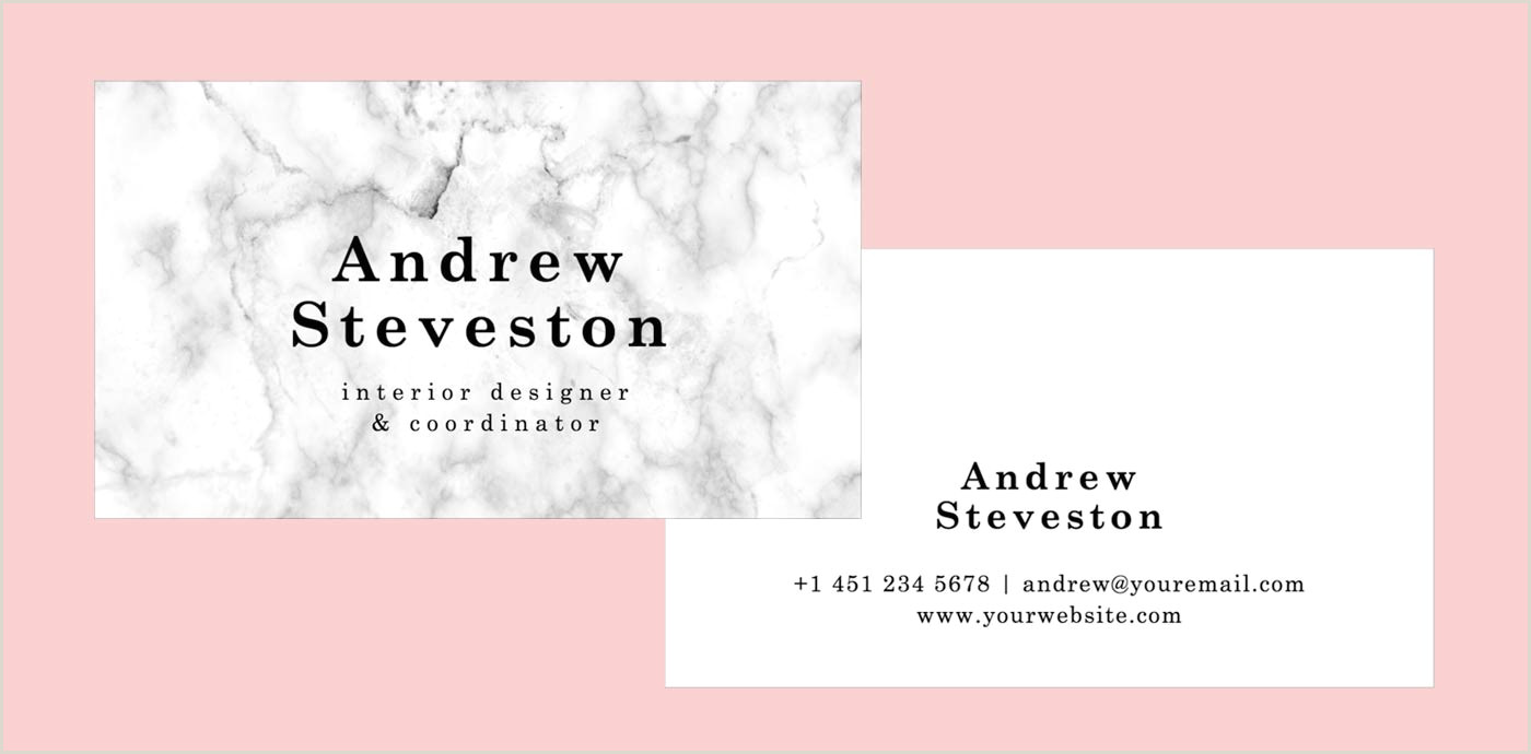 Unique Freelance Services Business Cards 10 Clean & Simple Business Card Templates Perfect For Any