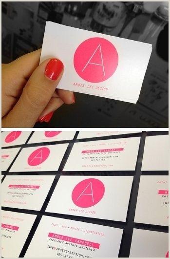 Unique Freelance Services Business Cards Ⓐ Ⓒ Pinterest Cool Bright Business Pink Design