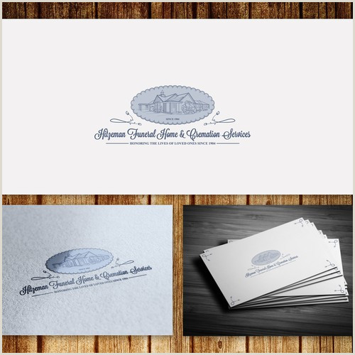 Unique Funeral Home Business Cards Create The Next Logo And Business Card For Hitzeman Funeral