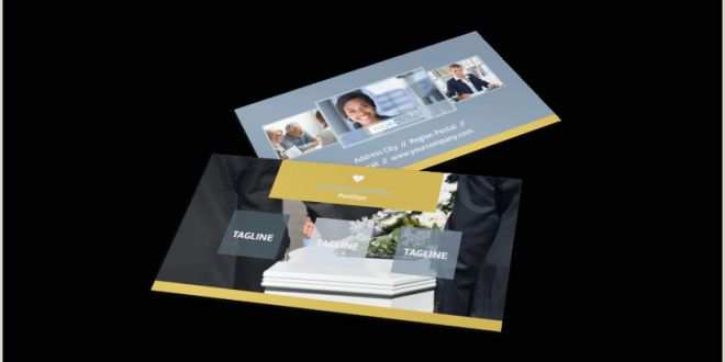 Unique Funeral Home Business Cards Funeral Service Business Card Template