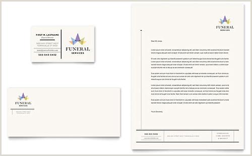 Unique Funeral Home Business Cards Funeral Services Business Card & Letterhead Template Design