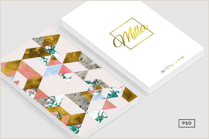 Unique Girly Business Cards With No Eriting 12 Feminine Business Card Designs & Templates Psd Ai