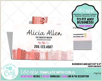 Unique Girly Business Cards With No Eriting Girly Business Card