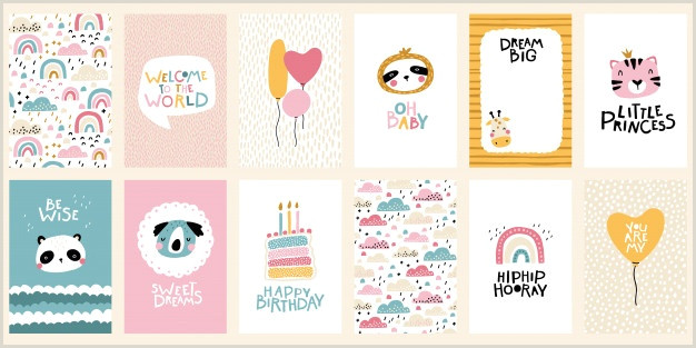 Unique Girly Square Business Cards Birthday Card