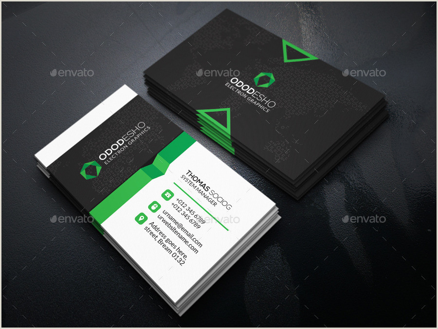 Unique Graphic Business  Cards Cool Business Card