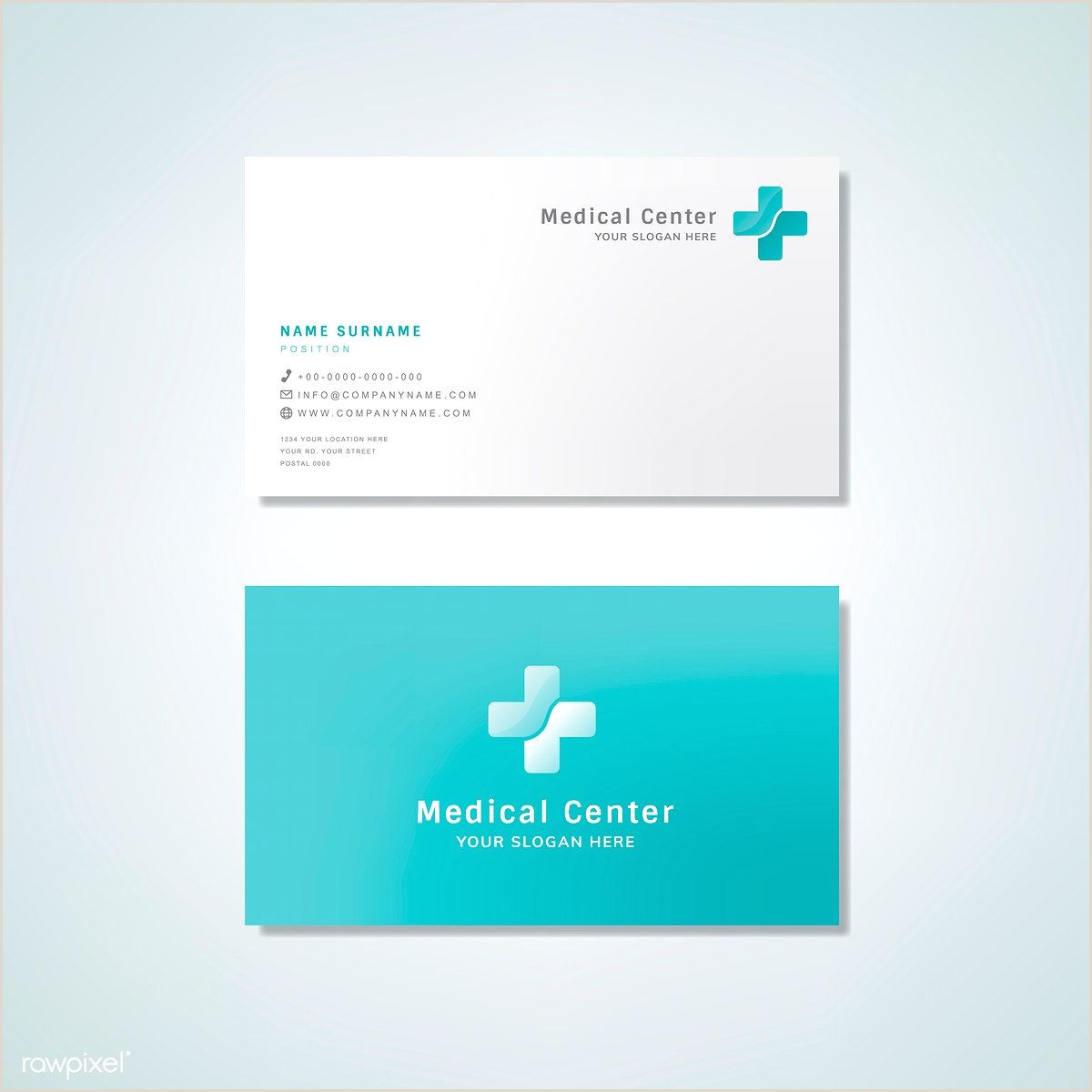 Unique Graphic Business  Cards Medical Professional Business Card Design Mockup