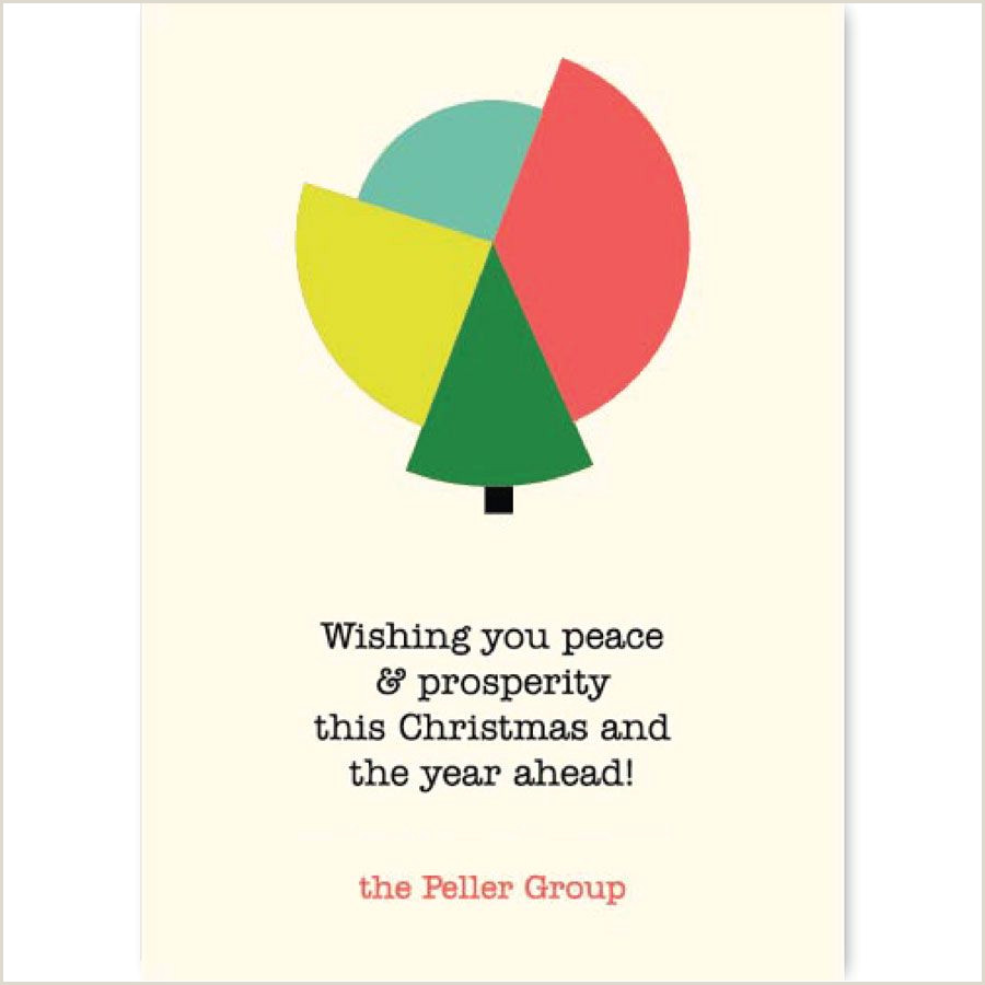 Unique Holiday Cards Business Pie Chart Greeting