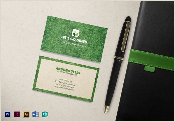 Unique Landscaping Business Cards 10 Best Landscaping Business Card Templates Pages Ai