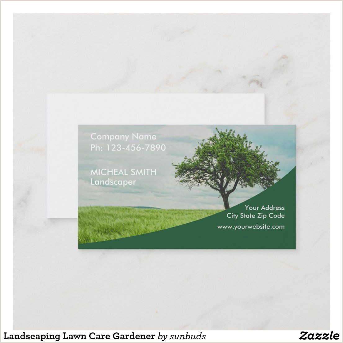 Unique Landscaping Business Cards Landscaping Lawn Care Gardener Business Card
