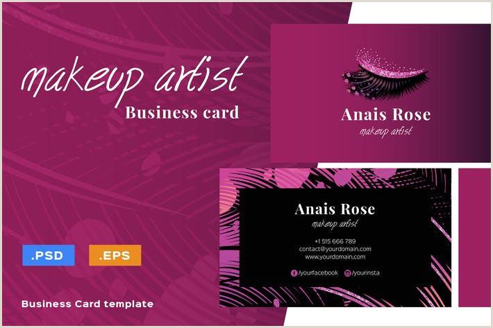 Unique Makeup Artist Business Cards Luxury Makeup Artist Business Card By Iconsoul On Envato Elements